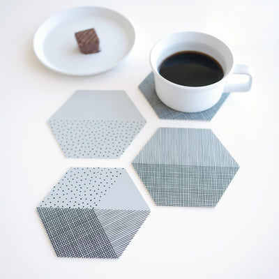 Set of 4 Silicone Coasters Concrete