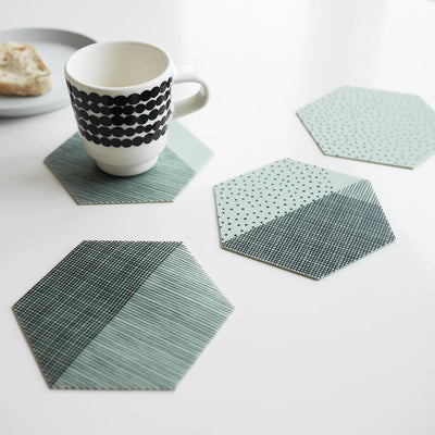 Set of 4 Silicone Coasters Mint