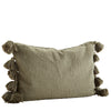 Tassel Cushion Cover - Olive
