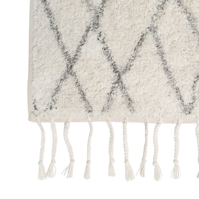 Black and White Bath Mat HKliving - Off White