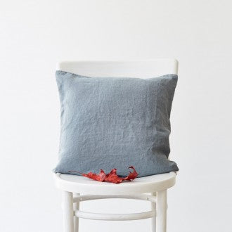 linen cushion cover blue fog linen tales