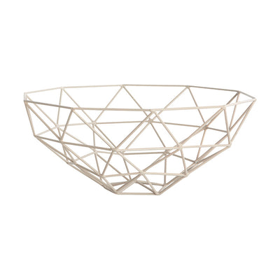 Geometric Fruit Bowl in Dusty Rose