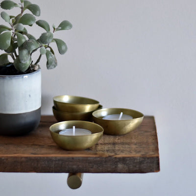 brass tealight holders house doctor