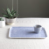 Large Fog Linen Tray - Blue White Check