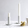 white-ceramic-candlestick-holder