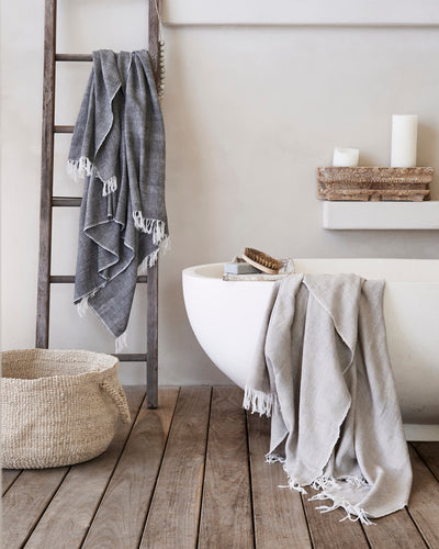 Cotton Throw - Linen Taupe