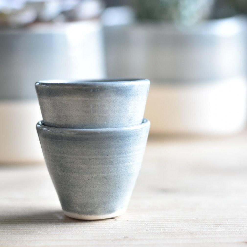 Set of two small Ceramic Pots | Egg Cups