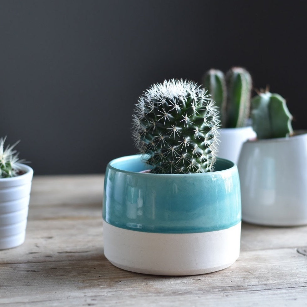 Small Handmade Ceramic Pot - Teal