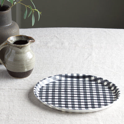 check-fog-linen-round-tray