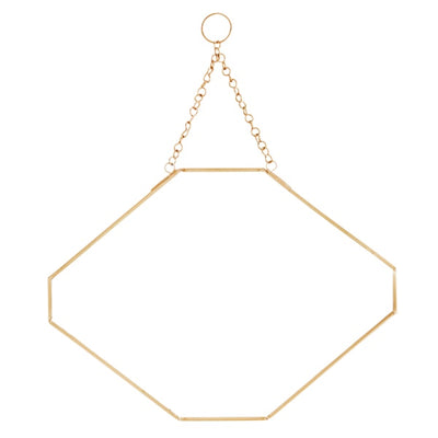 Gold Hanging Mirror