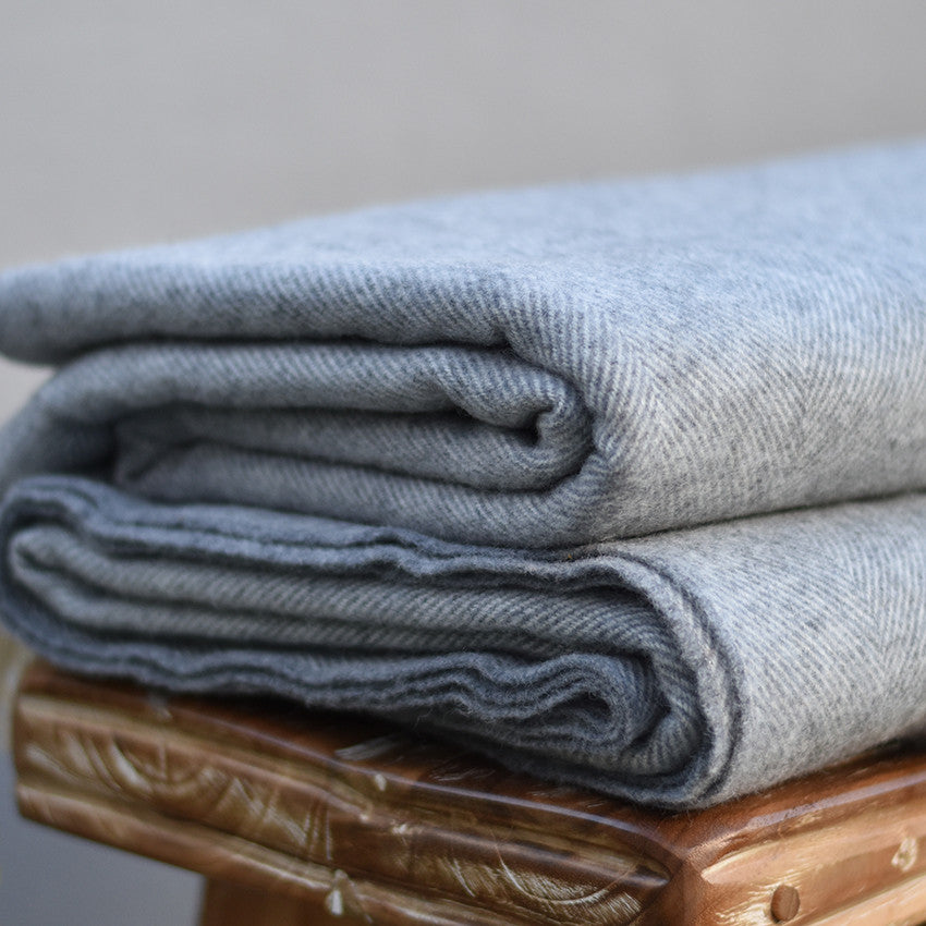 Super Soft Irish Woollen Blanket-Grey