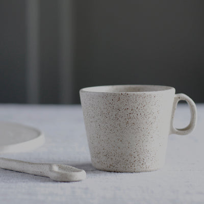 Handmade Speckled Mug With Handle