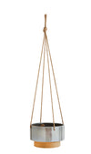 Stoneware Hanging Planter | Grey