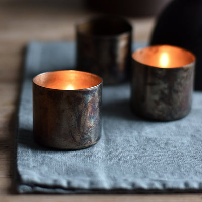antique brass tealight holder - defin-house-doctor