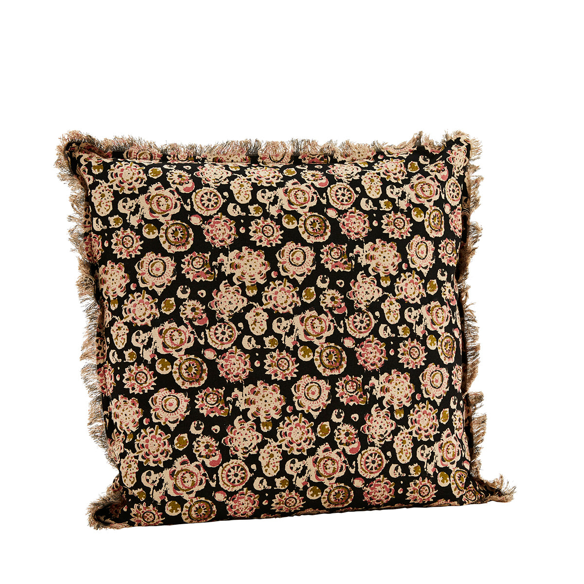 Printed Cushion with Fringes