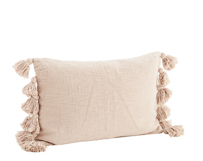 Tassel Cushion Cover - Powder