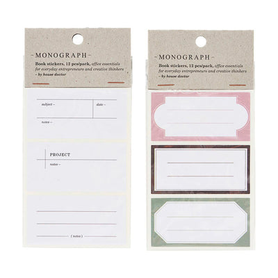 Notebook Stickers - Monograph
