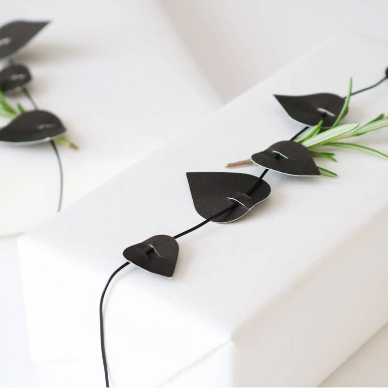 Paper Garland - Black Twig