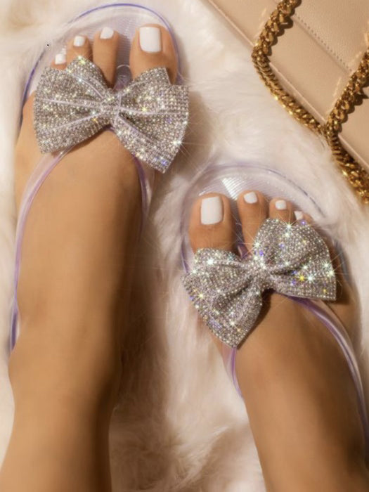 New Glitter Bow Slippers