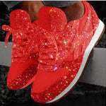 New Casual Platform Glitter Mesh Sneakers