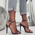 Summer Gladiator Peep Toe High Heel Shoes