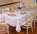 Ascott Flowers Embroidered Tablecloth, Ivory
