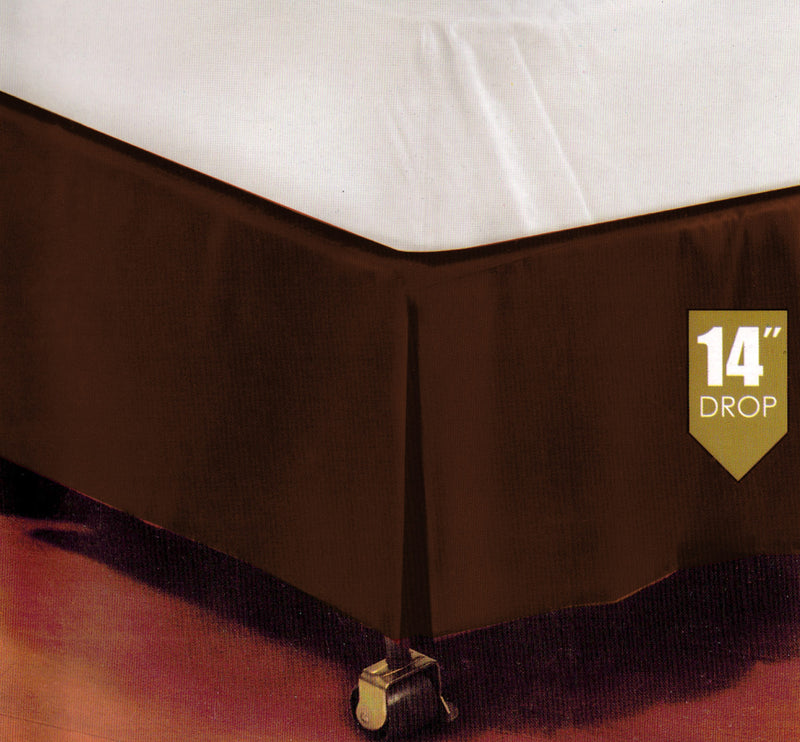 Kennedy Tailored Platform Top Bed Skirt, Chocolate