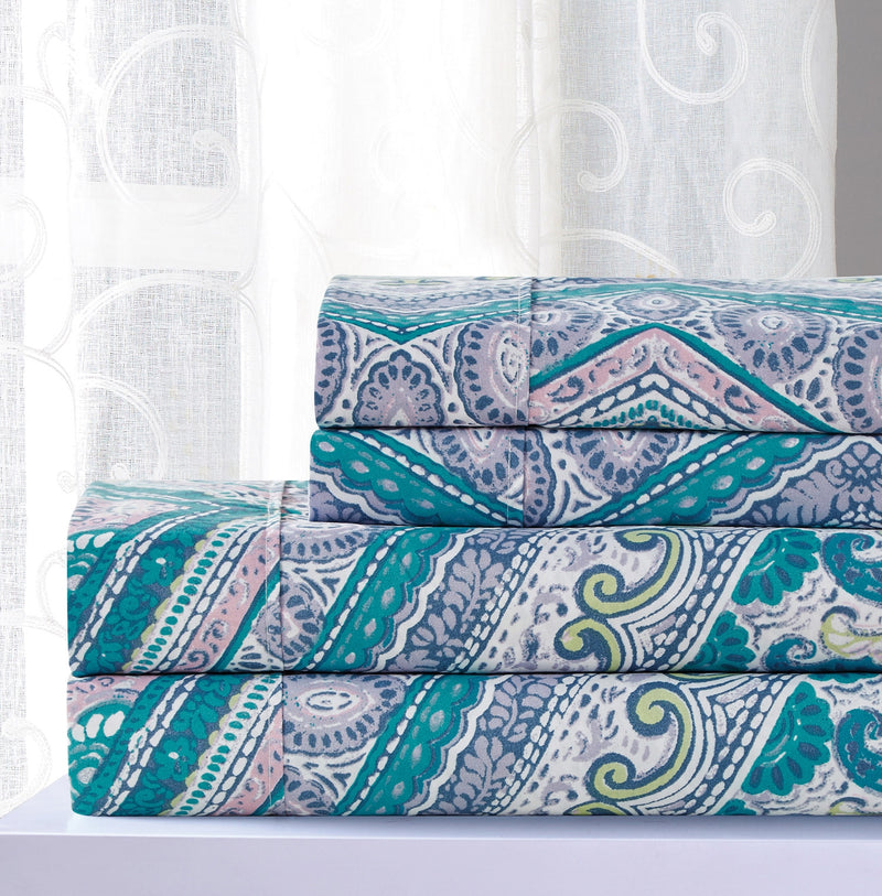 Essential Collection Chevy Printed Sheet Set, Blue