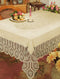 Bh Crochet Lace Vinyl Tablecloth Beige