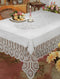 Bh Crochet Lace Vinyl Tablecloth White