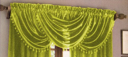 Hilton Waterfall Valance Lime Green - 57x37