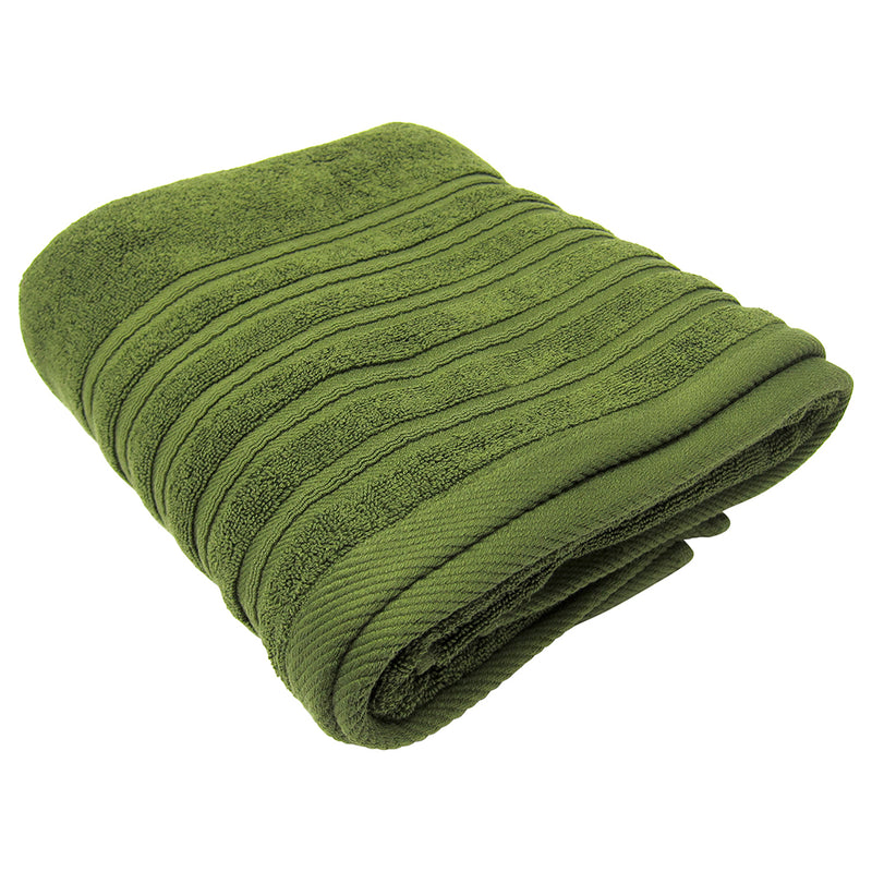 Feather and Stitch 2-Ply Bath Sheet, 32x64 Inches, Stone Green