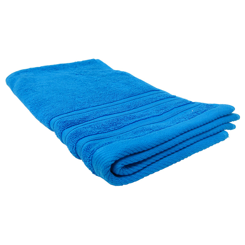 Feather and Stitch 2-Ply Hand Towel, 16x28 Inches, Cobalt