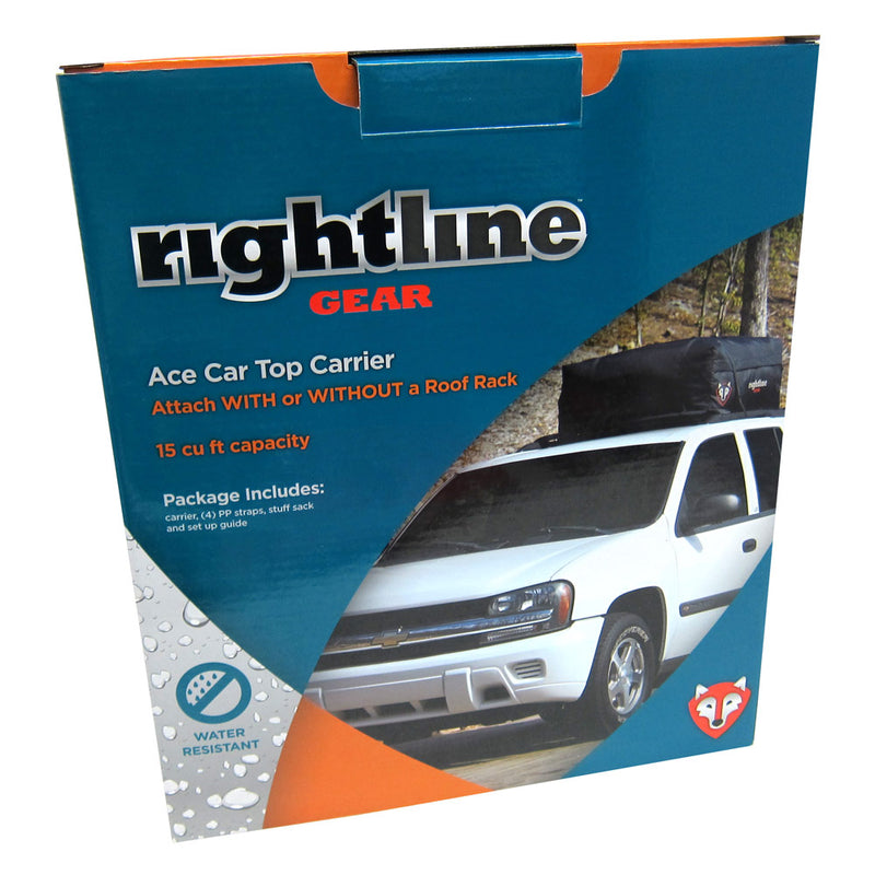 Rightline Gear 100A20 Ace Car Top Carrier, Water Resistant, Black