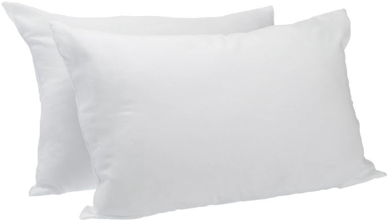 Valentino Twin Pack Firm Density Striped Pillow King White - 19x35
