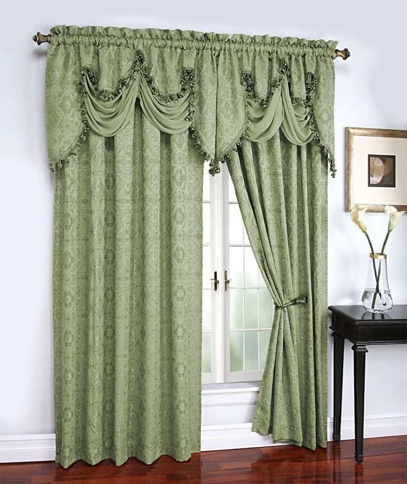 Portofino Jacquard Rod Pocket Panel Sage - 54x84