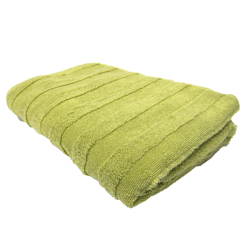 Feather And Stitch Zero Twist Bath Towel, 27x54 Inches, Light Green