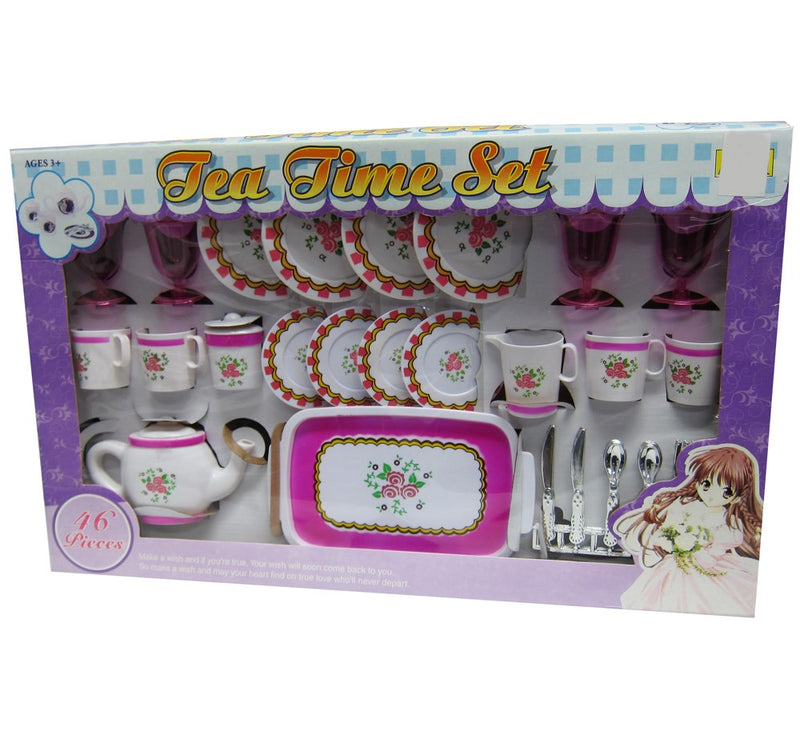 Tea Time Girls Colorful Play Set Toy - 46 Pieces