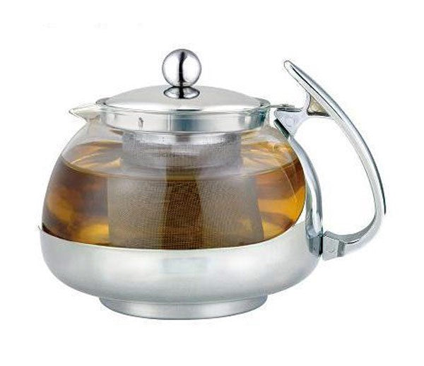 Glass Tea Pot With Stainless Steel Infuser 700 Ml - Single Serving
