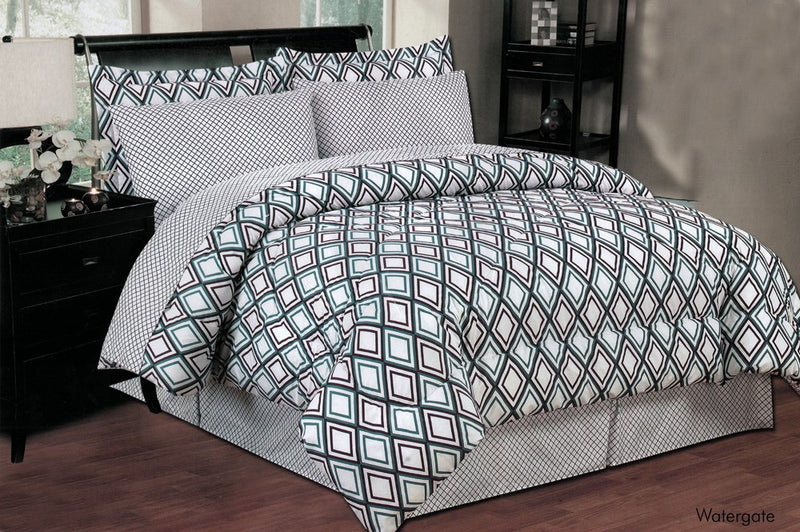 Watergate 8 Piece Bed In A Bag Reversible Comforter Set