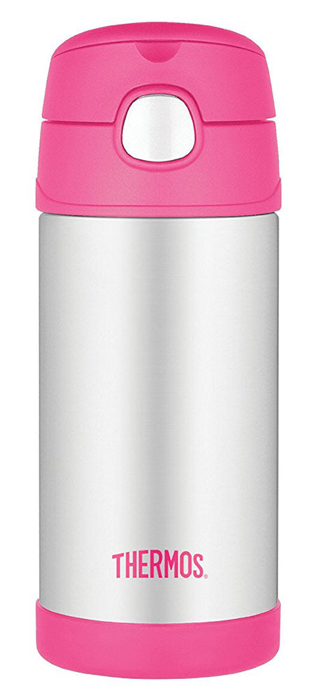 Thermos Funtainer Bottle With Straw, Pink, 12 Ounces