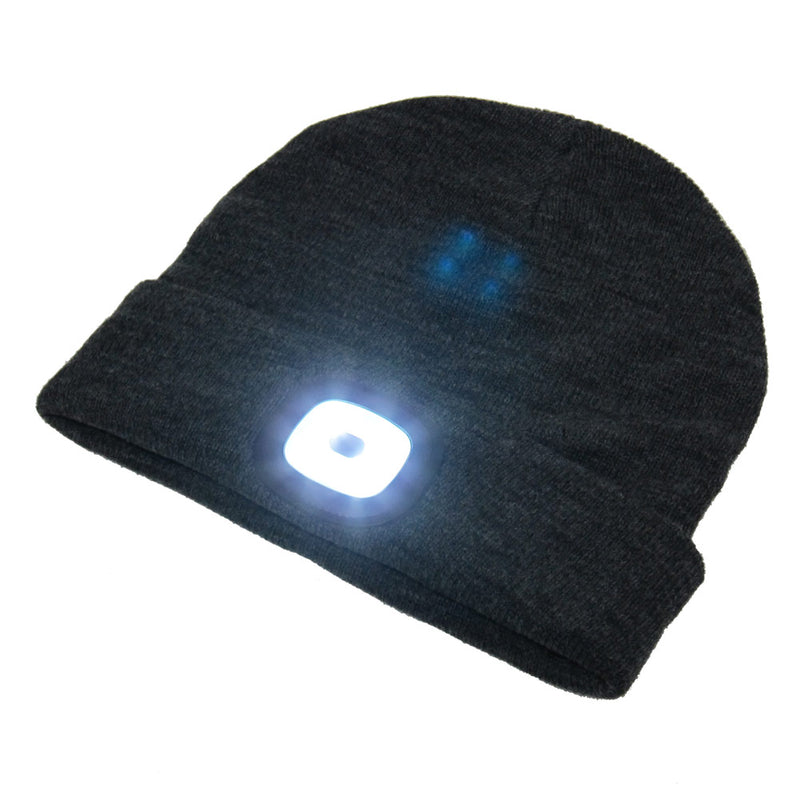 Beamie Hat With Built-in Rechargeable Led Head Lights, Charcoal