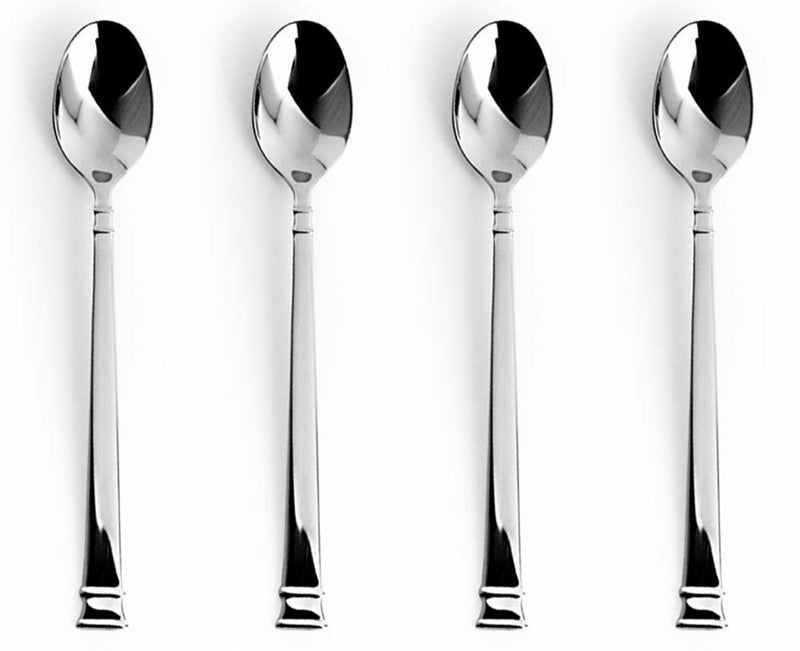 Bentley Stainless Steel Ice Tea Spoon, 4-pieces, 7.25 Inches
