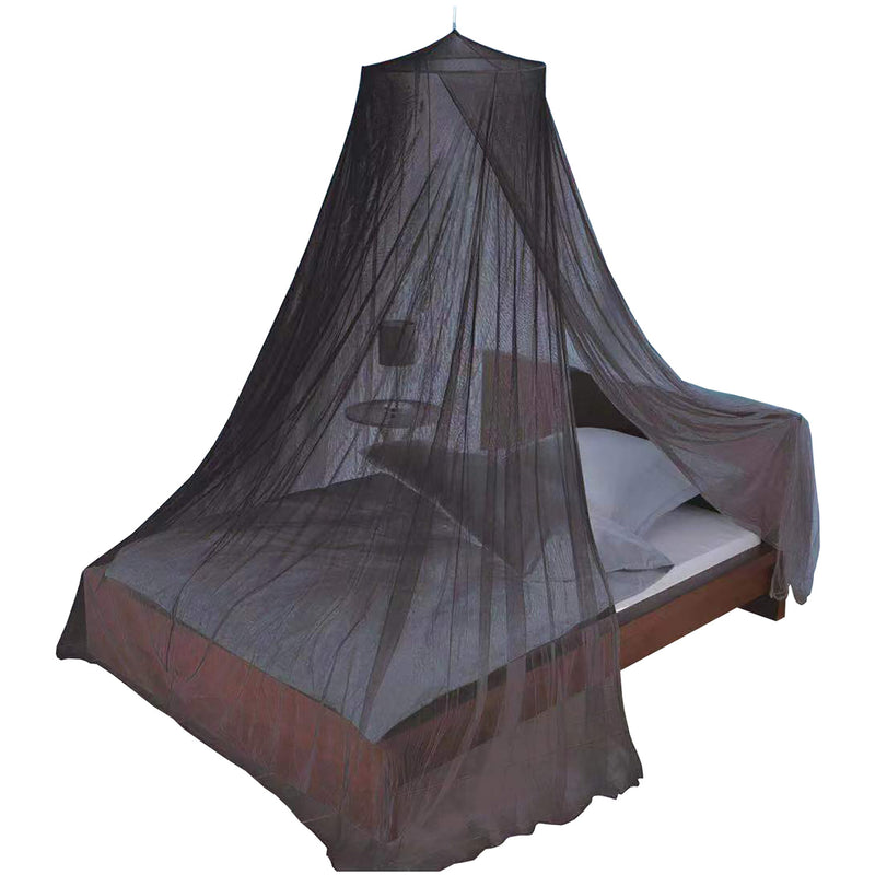 Just Relax Elegant Mosquito Net Bed Canopy Set, Black, Twin-Full
