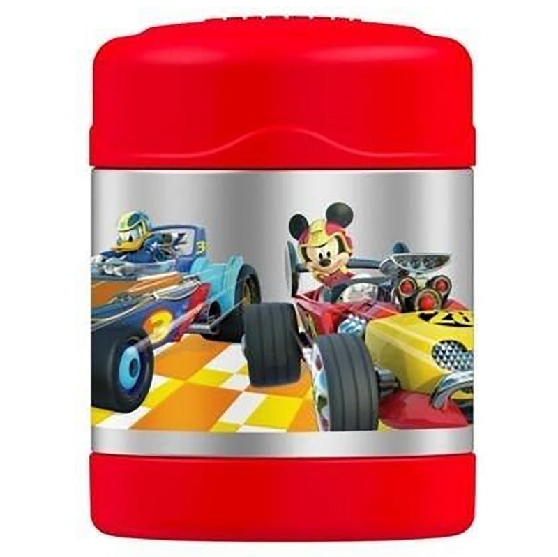 Thermos FUNtainer Mickey Mouse Roadster Racers Food Jar, Red, 10 Ounces