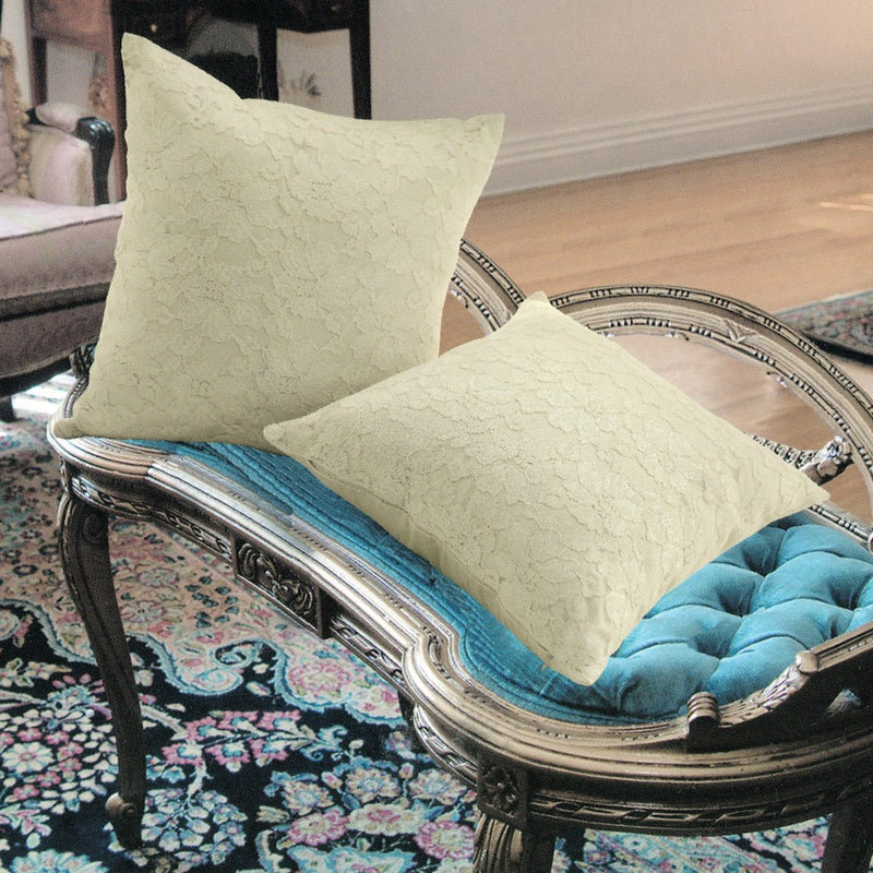 Chantilly Decorative Cushion Pillow Cover Beige - 18x18