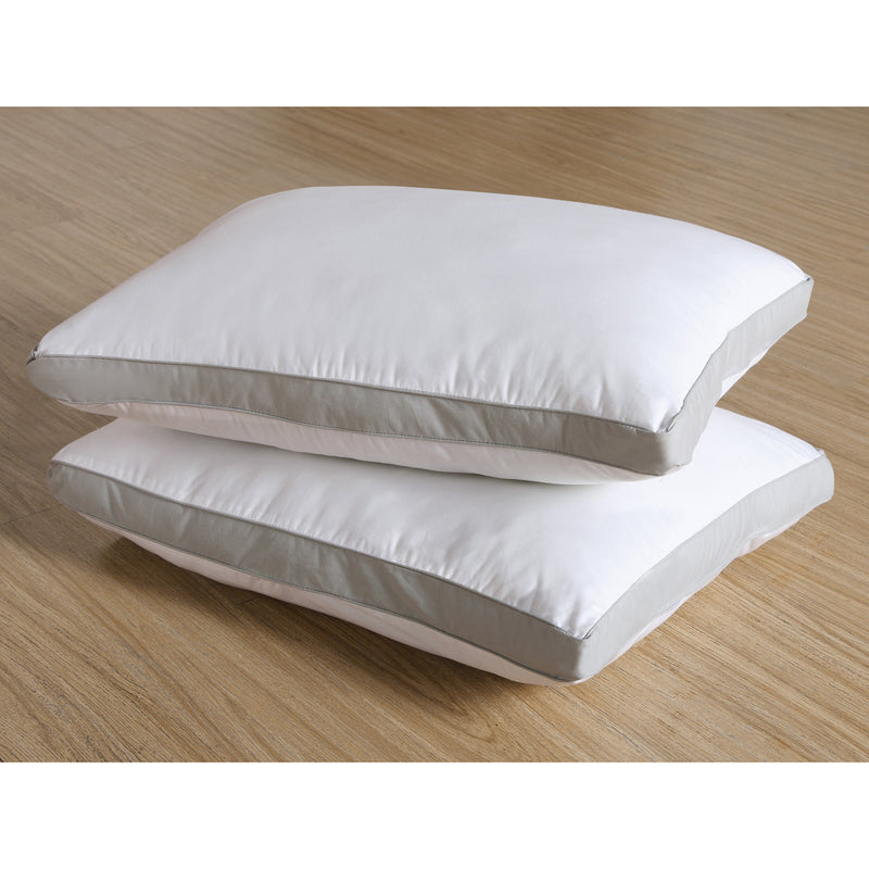 VCNY Home Mia Gusseted Standard Pillow, White, 20x26+2 Inches