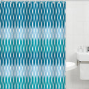 Bath Bliss Canvas Shower Curtain, Blue Chevron Design, 70x72 Inches