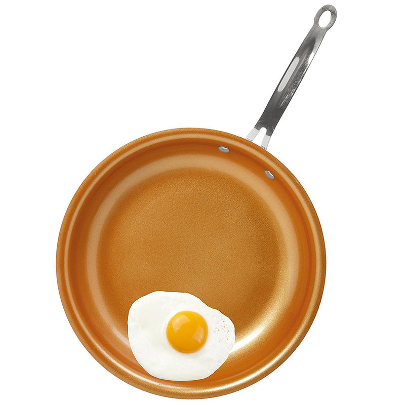 Kitchen Details Non-Stick Copper Glider Frying Pan, 10 Inches