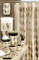 Shimmer Contemporary Design Shower Curtain With Sequins Gold - 70x72